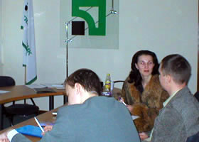 During training the managers of PrivatBank play the role game on usage the verbal and nonverbal communications